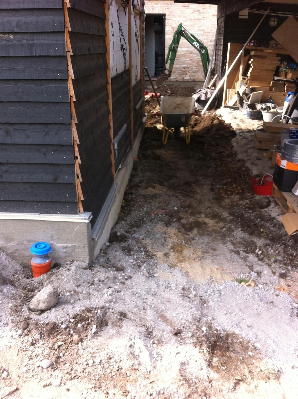 Lægning af nyt fundament eller belægning til terrasse