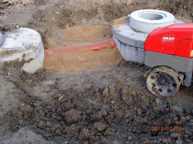 Nedgavning af ny kloak til virksomhed